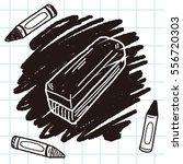 whiteboard eraser doodle | Shutterstock .eps vector #556720303