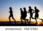 group of young people runs at... | Shutterstock . vector #55672582