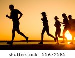 group of young people runs at... | Shutterstock . vector #55672585