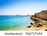beautiful view of mandraki... | Shutterstock . vector #556727194