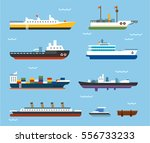 types of large vessels on the... | Shutterstock .eps vector #556733233