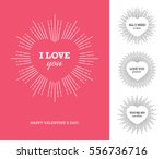 Stock vector creative design concept with heart shaped frame and sunburst for valentine s day mother s day 556736716