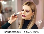 process of making makeup. make... | Shutterstock . vector #556737043
