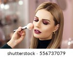 process of making makeup. make... | Shutterstock . vector #556737079