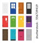interior door of various forms... | Shutterstock .eps vector #556739419