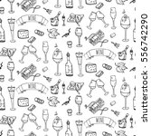 seamless pattern with hand... | Shutterstock .eps vector #556742290