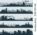 abstract industrial skyline ... | Shutterstock .eps vector #556745140
