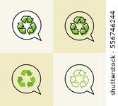 recycle vector signs.... | Shutterstock .eps vector #556746244