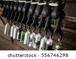 paintball markers are on a... | Shutterstock . vector #556746298