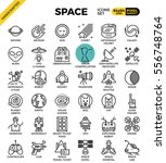 space and galaxy outline icons... | Shutterstock .eps vector #556748764