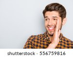 cheerful happy young man... | Shutterstock . vector #556759816