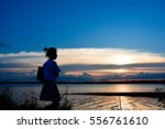the sky and the sea | Shutterstock . vector #556761610