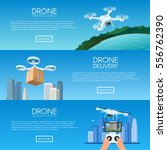 drone with remote control... | Shutterstock .eps vector #556762390