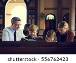 church people believe faith... | Shutterstock . vector #556762423