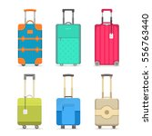 travel suitcase set isolated on ... | Shutterstock .eps vector #556763440