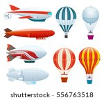 hot air balloon set isolated on ... | Shutterstock .eps vector #556763518