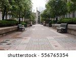 Empty Pedestrain Walkway In Ol...