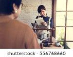 beverage barista cafe caffeine... | Shutterstock . vector #556768660