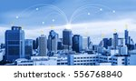 network connection in city  e... | Shutterstock . vector #556768840