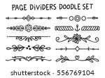 set of page divider in doodle... | Shutterstock .eps vector #556769104