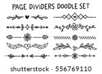 set of page divider in doodle... | Shutterstock .eps vector #556769110