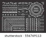 set of border  brush  frame ... | Shutterstock .eps vector #556769113