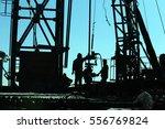 drilling exploration  the oil... | Shutterstock . vector #556769824