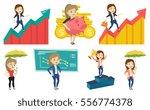 caucasian business woman... | Shutterstock .eps vector #556774378