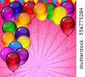 birthday party background  ... | Shutterstock . vector #556775284