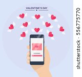 valentine's day illustration.... | Shutterstock .eps vector #556775770