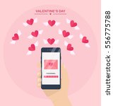 valentine's day illustration.... | Shutterstock .eps vector #556775788