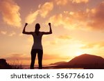 strong and confident woman... | Shutterstock . vector #556776610