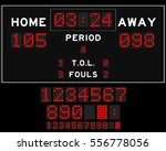 basketball score board with red ... | Shutterstock .eps vector #556778056