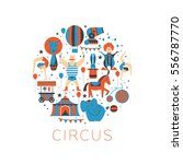 circus collection with carnival ...   Shutterstock .eps vector #556787770