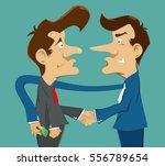 businessman  handshake with... | Shutterstock .eps vector #556789654