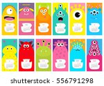 monster vertical monthly... | Shutterstock .eps vector #556791298