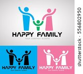 happy family logo design for... | Shutterstock .eps vector #556802950