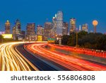 dallas downtown skyline at... | Shutterstock . vector #556806808