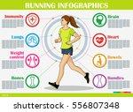 vector running and jogging... | Shutterstock .eps vector #556807348