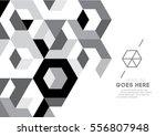 vector of modern geometric... | Shutterstock .eps vector #556807948