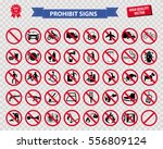 set of prohibited signs easy to ... | Shutterstock .eps vector #556809124