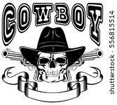 vector illustration cowboy...   Shutterstock .eps vector #556815514