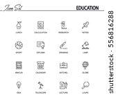 education flat icon set set....