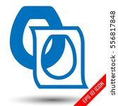 toilet seat cover. disposable... | Shutterstock .eps vector #556817848