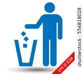 trash icon. vector eps10... | Shutterstock .eps vector #556818028