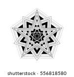 beautiful mandala pentagram...