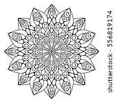 flower mandalas. vintage... | Shutterstock .eps vector #556819174