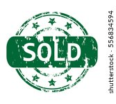 rubber stamp with the word sold ... | Shutterstock .eps vector #556834594