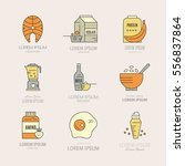 collection of icons with sport... | Shutterstock .eps vector #556837864