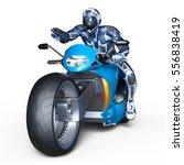 3d cg rendering of a cyborg...   Shutterstock . vector #556838419